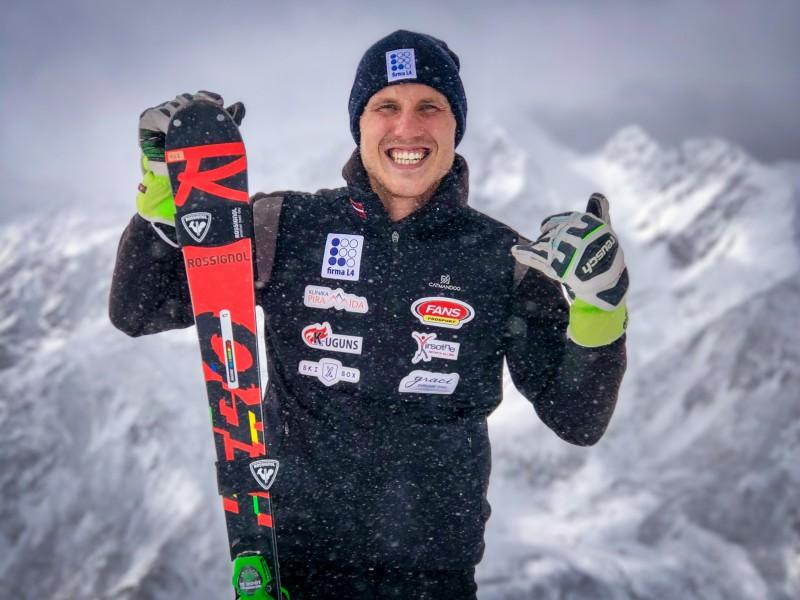 Miks Zvejnieks gatavs startam FIS Pasaules čempionātā kalnu slēpošanā