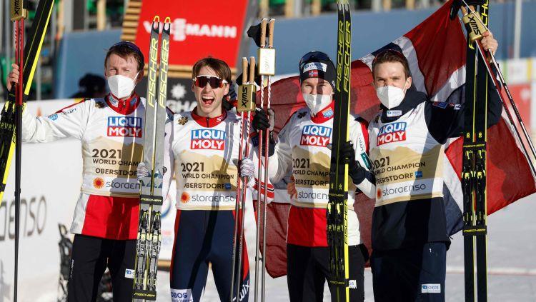 Norvēģija triumfē ziemeļu divcīņas stafetē, tramplīnlēkšanā uzvar Vācija