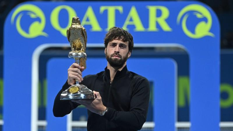 Pret Federeru mačbumbu atspēlējušais Basilašvili kļūst par Dohas čempionu