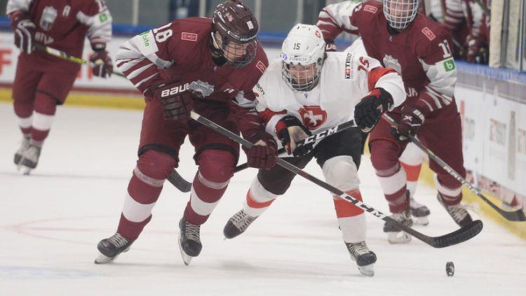 Latvijas U18 izlase PČ sāk ar piekāpšanos vienaudžiem no Šveices