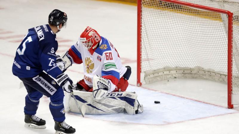 """Rīgas """"Dinamo"""" hokejista divi vārti ļauj Somijai Eirotūres spēlē sakaut Krieviju"""
