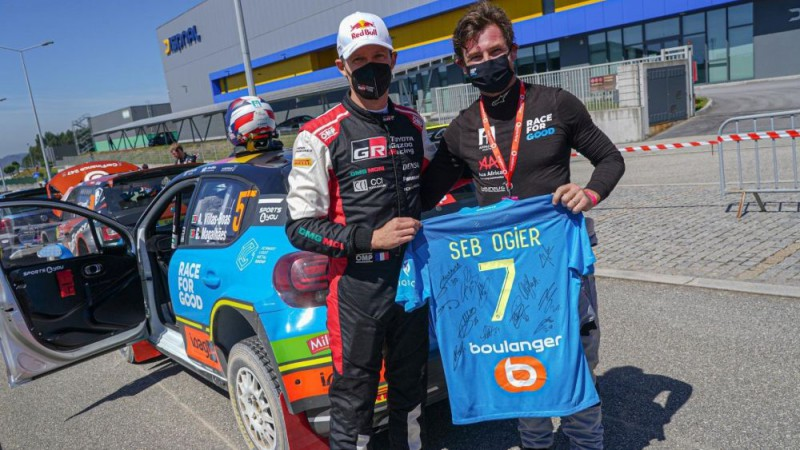 Futbola treneris Andrē Vilašs-Boašs piedzīvo debiju Portugāles WRC rallijā