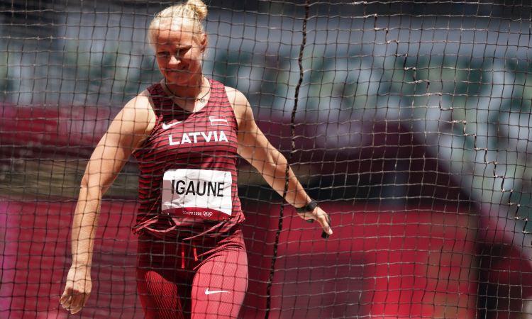 Laura Igaune olimpiskajā debijā iegūst 20. vietu vesera mešanā
